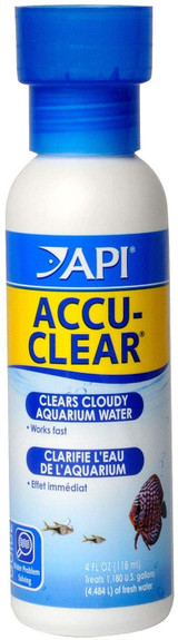 API ACCU-CLEAR Clears Cloudy Aquarium Water For Freshwater 4-Ounce Bottle