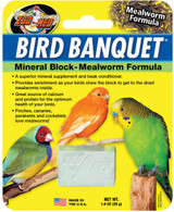 Zoo Med Bird Banquet Mineral Block-Mealworm Formula For Birds 1-Ounce