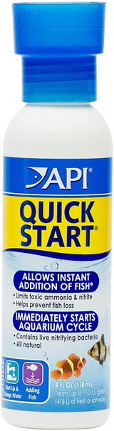 API Quick Start For Freshwater and Saltwater Aquariums 4-Ounce Bottle
