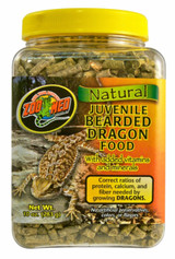 Zoo Med Natural Juvenile Bearded Dragon Food +Vitamins & Minerals 10-Ounce