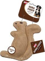 SPOT Ethical Pet Dura-Fused Leather, Small Durable Squirrel Dog Toy