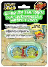 Zoo Med Glow In The Dark Dual Thermometer & Humidity Gauge For Hermit Crabs
