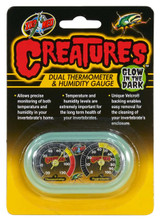 Zoo Med Creatures Dual Thermometer & Humidity Gauge Glow In The Dark