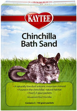 Kaytee Chinchilla Bath Sand Low-Dust Volcanic Mountain Mineral 5 -140 Gram Packs