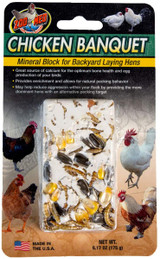 Zoo Med Chicken Banquet Mineral Block For Backyard Laying Hens 6.17-Ounce