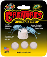 Zoo Med Creatures Feeding Block With Food Pellets For Beetles and Roaches 3 pack