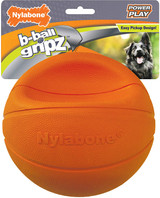 Nylabone B-Ball Gripz Basketball Holds Shape If Punctured, Dog Toy, Large