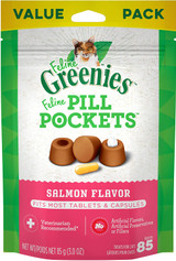 Greenies Feline Pill Pockets Salmon Flavor For Cats (Tablet & Capsule) 85 Count
