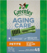 Greenies Dental Treats Senior Aging Care For Petite Dogs 45-Count