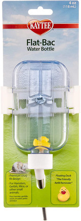 Kaytee Flat-Bac Water Bottle 4-Ounce For Hamsters, Gerbils & Other Small Animals