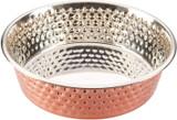 SPOT Ethical Pet Honeycomb Hammered Copper Dog Dish 3-Quart