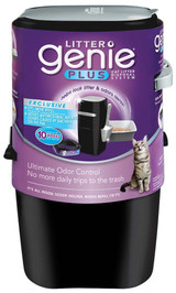 Litter Genie Plus Cat Litter Disposal System Black- Antimicrobial Protection