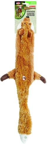 "SPOT Jumbo Skinneeez Stuffless Squeaker Toy, Tug-Of-War 37"" Assorted Dog Toy"