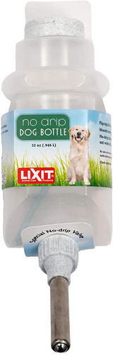 Lixit Top Fill with Special No Drip Vavle Water Bottle for Dogs 32 oz