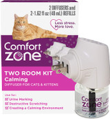Comfort Zone Calming Diffusers & Refills 2 Room Calming Kit For Cats & Kittens