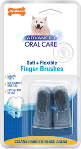 Nylabone Advanced Oral Care Soft + Flexible Finger Brushes 2 Count For Dogs