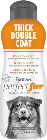 TropiClean PerfectFur Thick Double Coat Shampoo For Dogs 16-Ounce