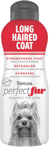 TropiClean PerfectFur Long Haired Coat Shampoo For Dogs 16-Ounce
