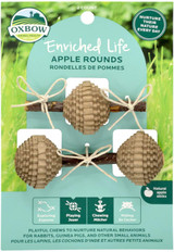 Oxbow Enriched Life Apple Rounds With Natural Apple Sticks Playful Chews 2-Count
