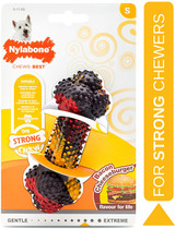 Nylabone Strong Chew Bacon Cheeseburger Flavor Small Dogs Up To 25-Pounds