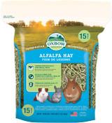 Oxbow Alfalfa Hay High Fiber For Digestive & Dental Health 15-Ounce