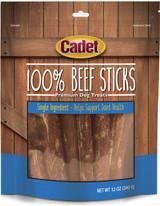 Cadet 100% Real Beef Sticks No Additives - Premium Dog Treats 12-Ounce