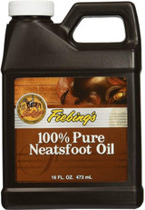 Fiebing's 100% Pure Neatsfoot Oil Natural Leather Preservative 16-Ounce