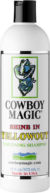 Cowboy Magic Shine In Yellow Out Whitening Shampoo 16-Ounce For Horses