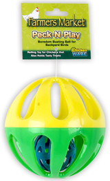 Ware Pet Products Peck-N Play Chicken Ball Toy 4.5-Inch
