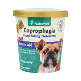NaturVet COPROPHAGIA Plus Breath Aid Stool Deterrent Soft Chew Dogs 70 count