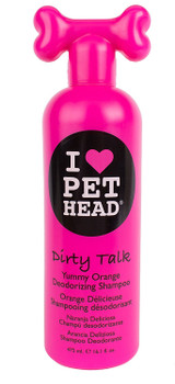 Pet Head Dirty Talk Deodorizing Shampoo 16.1 oz | Yummy Orange Scent | For Dogs