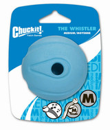 Chuckit WHISTLER Dog Fetch Ball Medium Ball 1 Pack Whistles Natural Rubber Toy