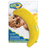 OurPets 100-Percent North-American Catnip Filled Banana Cat Toy A-Peeling
