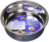 Loving Pets Bella Bowl Metallic Blueberry Small | Stainless Steel Dish for Dogs