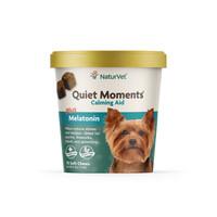 NaturVet QUIET MOMENTS Plus Melatonin Dog Soft Chew Fireworks Travel 70 ct