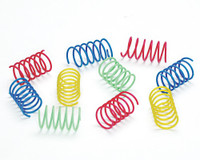 Ethical Pet Spot Colorful Springs Wide 10 count | Short Spiral Cat Toys