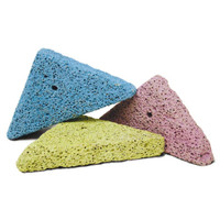 Kaytee Lava Bites 3 count | Teething Triangle Chew Toys for Small Animals