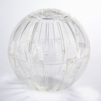 Kaytee Run-About Ball Clear 11.5 inch   Plastic Excercise Toy for Small Animals