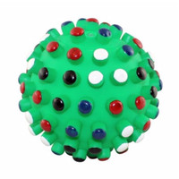 Ethical Pet Spot Gumdrop Ball 5 inch | Colored Tips | Vinal Squeaker Dog Toy