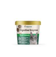 NaturVet Digestive Enzymes Plus Probiotics Soft Chew Cat 60 count