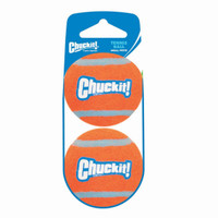 Chuckit TENNIS BALL Dog Toy Fetch Small 2 pack High Visibility 2 inch