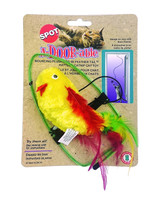 Ethical Pet Spot A-Door-Able Bouncing Plush Bird | Cat Toy | Colorful Feathers