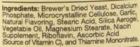 NaturVet Brewer Dried Yeast Formula Garlic Dog and Cat Vitamins 100 count