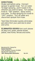 NaturVet Yard Plants Pet Odor Eliminator Concentrated Hose Spray Nozzle 32 oz