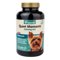 NaturVet QUIET MOMENTS CALMING AID DOG Stress Relief Chewable Tablet 60 Count