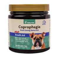 NaturVet COPROPHAGIA DETERRENT - Stops Dogs and Puppies from Eating Poop 130 Tab