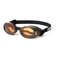 Doggles ILS Dog Goggles Sunglasses Flames / Orange Lens Extra-Large