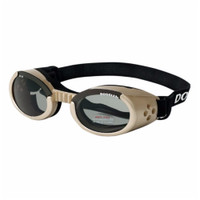 Doggles ILS Chrome/Smoke Medium | Goggles/Sunglasses | Eye Protection for Dogs