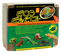 Zoo Med Eco Earth Compressed Coconut Fiber Expandable Substrate Brick 3 pack