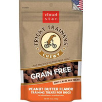 Cloud Star Chewy Tricky Trainers Grain Free Peanut Butter Dog Treats 5 Ounces